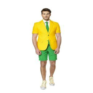 OppoSuits Adult Green & Gold Summer Suit
